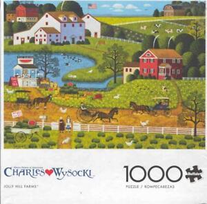 Charles Wysocki Buffalo Games Jigsaw Jolly Hill Farms NIB