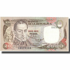 Colombia 2000 Pesos LOT p457q x 5 PCS UNC 30.7.2014