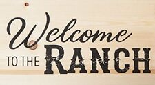 Welcome to the Ranch Natural 10 x 5.5 Solid Wood Plank Wall Plaque Sign