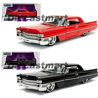 1963 CADILLAC HARD TOP RED BLACK 1:24 JADA BIG TIME KUSTOMS DIECAST MODEL CAR