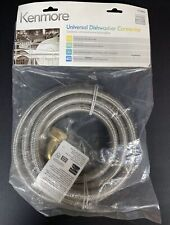 KENMORE 8 FT BRAIDED STAINLESS STEEL DISHWASHER WATER SUPPLY CONNECTOR KIT