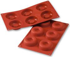 """Silikomart Flexible Silicone Non-Stick Savarin Mold 2.1 Oz, 2.83"""" Dia x .91"""" D"""