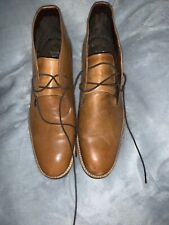 Next Tan Leather Lace Up Boots - Men's Size UK 9 EU 43