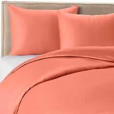 1000 Thread Count Silky BAMBOO COTTON Hybrid Blend Sheet Set SPLIT KING CORAL