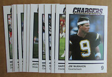 1989 SAN DIEGO CHARGERS LOUIS RICH SET (12) JIM McMAHON BYRD O'NEAL MILLER SMITH