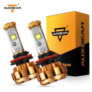 AUXBEAM H11 LED Headlight High / Low Beam Bulb 60W 6000LM 6000K White H9 H8 F-16