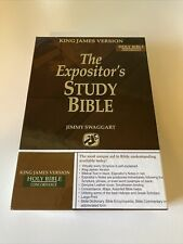 Expositor's Study Bible KJV Jimmy Swaggart Black Genuine Leather 2005 - New