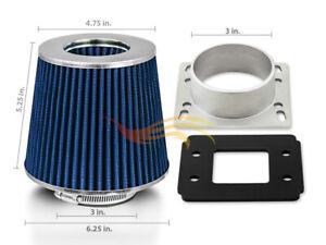 AIR INTAKE MAF Adapter +BLUE FILTER For 98-01 Mazda B2300 B2500 B3000