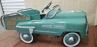 Metal Pedal Car Vintage Estate Wagon Classic Light Blue Exc. Condition