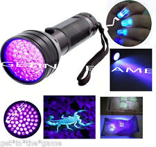 UV Ultra Violet 51 LED Flashlight Blacklight Light 395 nM Inspection Lamp Torch