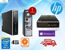 COMPUTER PC DESKTOP FISSO USATO GARANTITO HP 8100 QUAD CORE i3 4GB 250GB Win 10