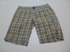 Roxy Junior Womens Size 3 Brown Blue Green Plad Bermuda Shorts Good Condition