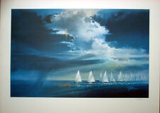 Yacht Racing - Visions of Gold Print - Los Angeles 1984 Olympics  Robert Peak