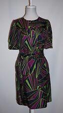 DKNY Donna Karan Multi-color Print 100% Silk Shift Dress Size 4 MSRP $275