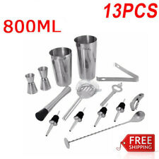 COCKTAIL SHAKER SET Maker Mixer Kit Martini Spirits Muddler Bars Strainer Jigger
