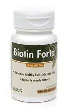 PhytoPharmica Biotin Forte, 3mg with Zinc, Tablets, 60 ea