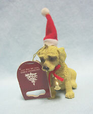 """Christmas Dog Ornament with Bell Collar 4 1/2"""" Tall by Enchanted Forest 2009"""