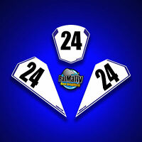 RACE NUMBER BOARDS - TO FIT YAMAHA R1 2015> WRAP TRACK STICKERS (RatMally)