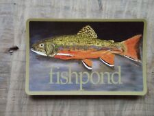 Fishpond Brookie Trout  Fly Fishing sticker