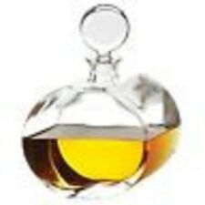Global Views Round Glass Decanter with Illusional Offset Shape MSRP $175