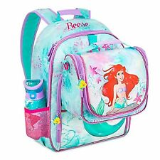 Disney NWT Little Mermaid Flounder Ariel 3D Backpack+lunch tote box  NEW 2016