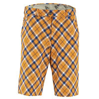 Tangerine Tartan Golf Shorts by Royal and Awesome Funky & Loud Waist 30 - 44 NEW
