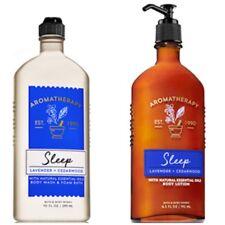 "BATH AND BODY WORKS AROMATHERAPY ""SLEEP"" Lavender & Cedarwood Body Wash & Lotion"