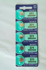 5x Sony 371, SR920SW Watch Battery 0% Mercury EXPIRE 04/2020 or later