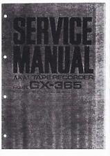Service Manual-Anleitung für Akai GX-365