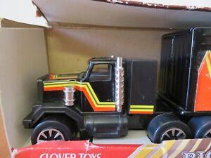 Clover Toys Big Roller Heavy Gauge Metal Porsche Racing Team Truck