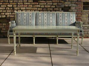 Sofa & Tisch Empire • Klassizismus • Louis Seize, Antikstil, 3-Sitz, Schleiflack