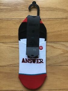 🏀 NEW NWT The Answer Allen Iverson Stance Anthem Socks 9-12 ( 43-46 Europe ) L