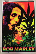 Bob Marley One Love Rare Blacklight Poster