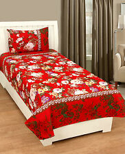 Homefab India 3D Single Bed-Sheet with 1 Pillow Cover (Single174)
