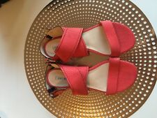 Oroton Strap Leather Sandals Size 39.5