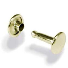 Double Cap Rivets Solid Brass Large 100 Pack 1383-11 by Stecksstore