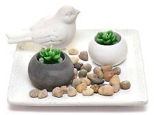 Zen Garden Set Deko Feng Shui Teller Vogel Kerzenhalter Kerzen Steine Geschenk