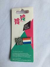 London 2012 Olympics Netherlands flag badge