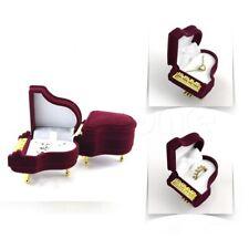 Jewelry Wedding Velvet Piano Ring Box Gift Case Storage Box Earring Pendant