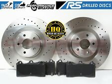 FOR FORD FOCUS RS MK3 2.3 RS 15- FRONT PERFORMANCE BRAKE DISCS BRAKE PADS 350mm