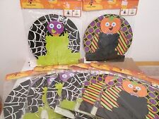 NEW Lot of 8 Halloween Cupcake Holders Stands Spider Pumpkin Cardboard Party NIP