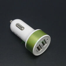 Mini Dual USB 2-Port AUTO Car Charger Adapter For Apple iPhone iPod Samsung GRN