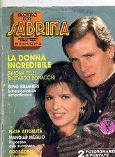 INCONTRO CON SABRINA#Mensile di Fotoromanzi-An. XXIV-N.277#16 Aprile 1987 Lancio