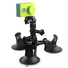 Car Suction Cup Mount Camera Stand for Gopr Hero4 3+3 Xiaomi Yi Action SJ4000 S