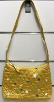 Vera Bradley Silk Collection Courtney Shoulder Bag in Pineapple Dots