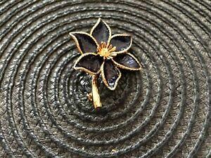 DANECRAFT STERLING FLOWER BROOCH -  7390