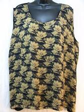 T405~TIENDA HO~Blue&Gray~BASIC TANK TOP~Nothing Matches~RAYON~floral~LOVELY~1X