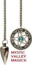 Pentacle Pendulum with Blue Stone