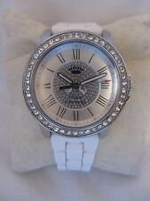 JUICY COUTURE WATCH - PEDIGREE WHITE SILICONE STRAP AND CRYSTALS 1901051