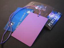 "Tesla Purple Plate ""Credit Card"" -Positive Energy- 3.3 x 2.1 in (8.4 x 5.4 cm)"